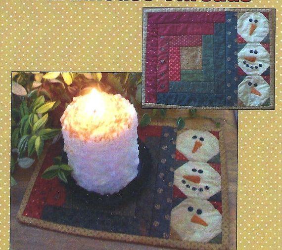 Primitive Folk Art   Primitive Folk Art Candle Mat Pattern LET IT ...   primitive creatio ...