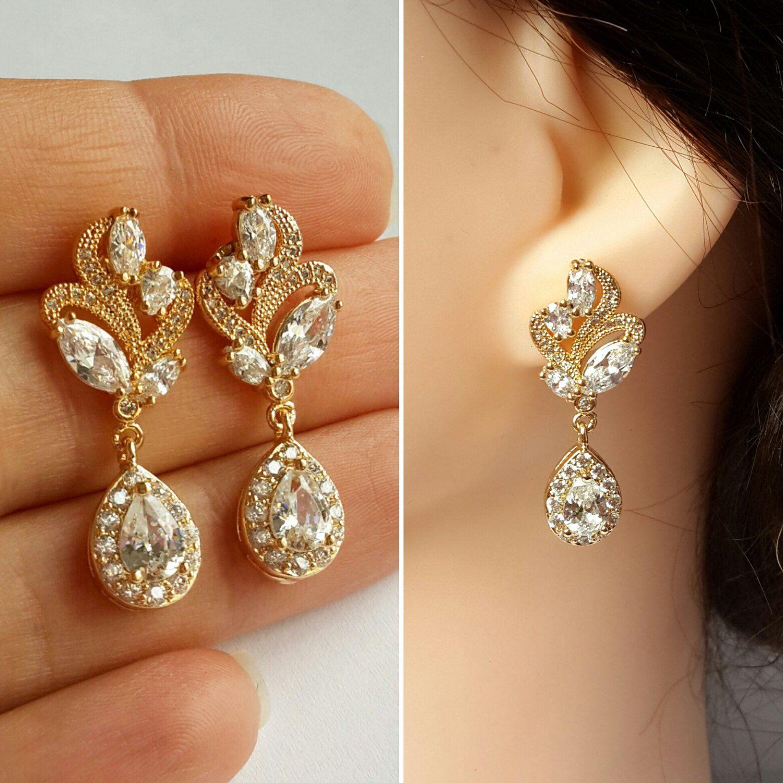 29++ Wedding earrings gold crystal information