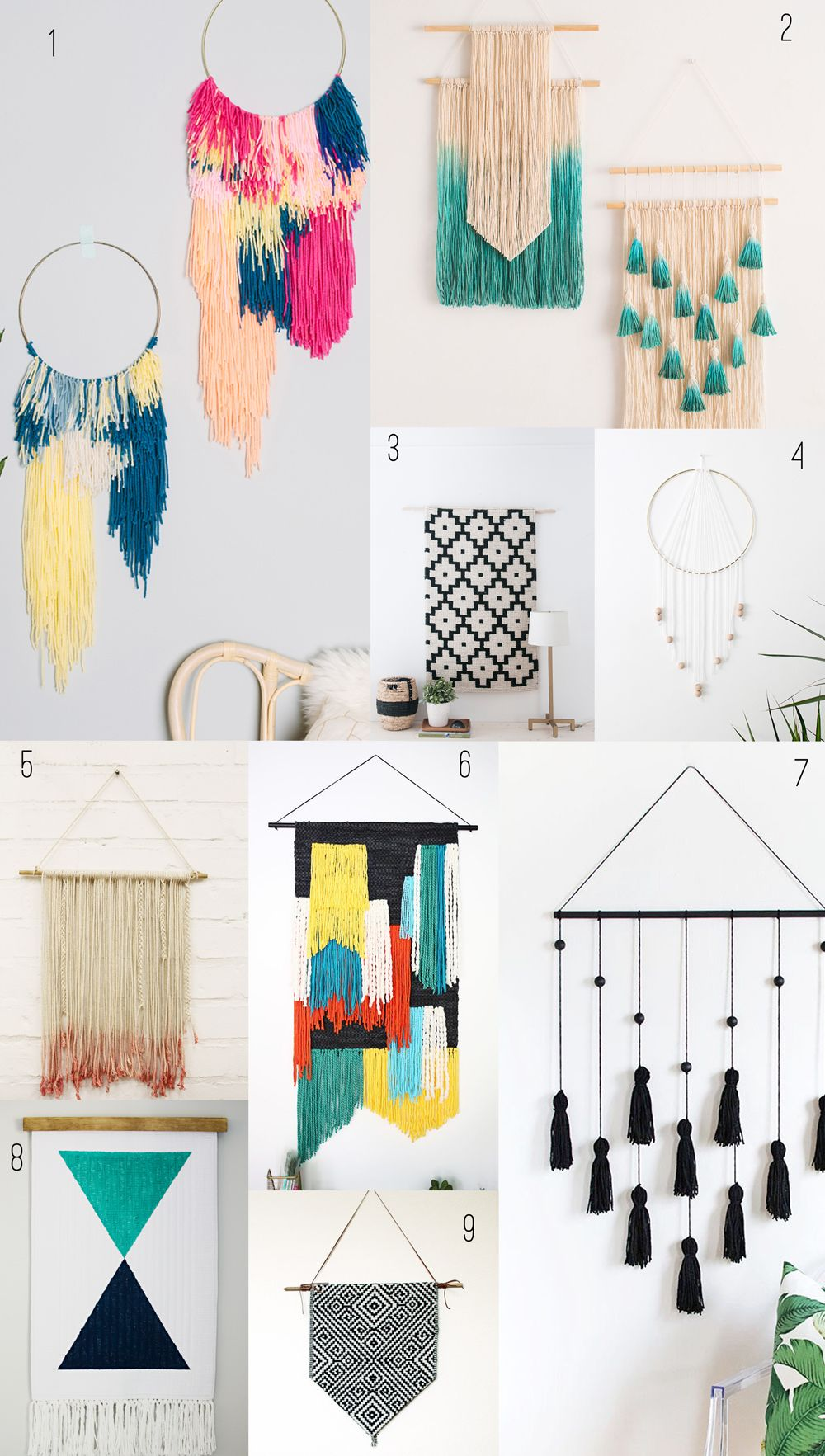 9 Amazing Diy Wall Hangings Tell Love And Party Wall Hanging Diy Diy Wall Art Diy Decor