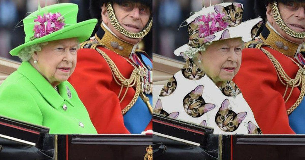 Queen Elizabeth Wears Green Dress Inspires Incredible Photoshop Thread Queen Elizabeth Memes Funny Tweets Funny Photoshop