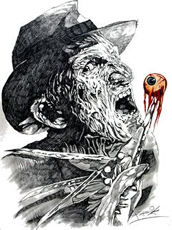 A Nightmare On Elm Street Freddy Krueger King Of The 80s Slasher Icons Art By Rick Melton Horror Art Horror Icons A Nightmare On Elm Street