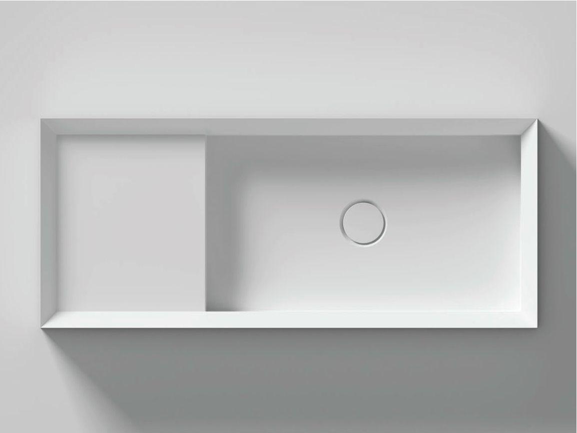 Lavabo da appoggio rettangolare cut by valdama design for Imitazioni mobili design