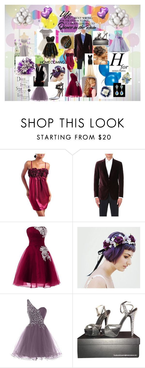 """""""Homecoming Style"""" by snowflakes241247 ❤ liked on Polyvore featuring Armani Collezioni, Tony Bowls and WALL"""