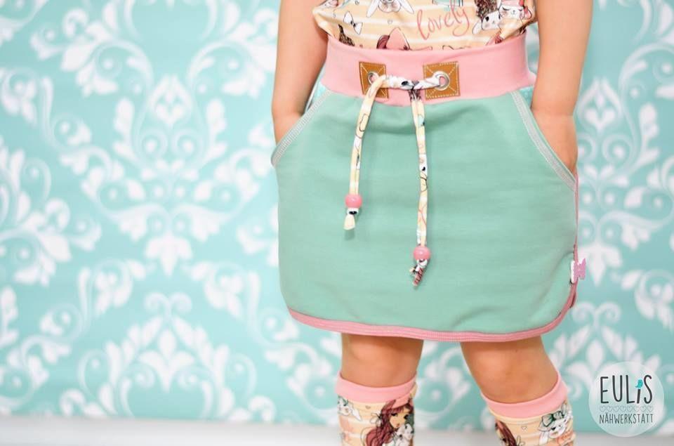 Bubblegum-Skirt / Schnittmuster mit Nähanleitung