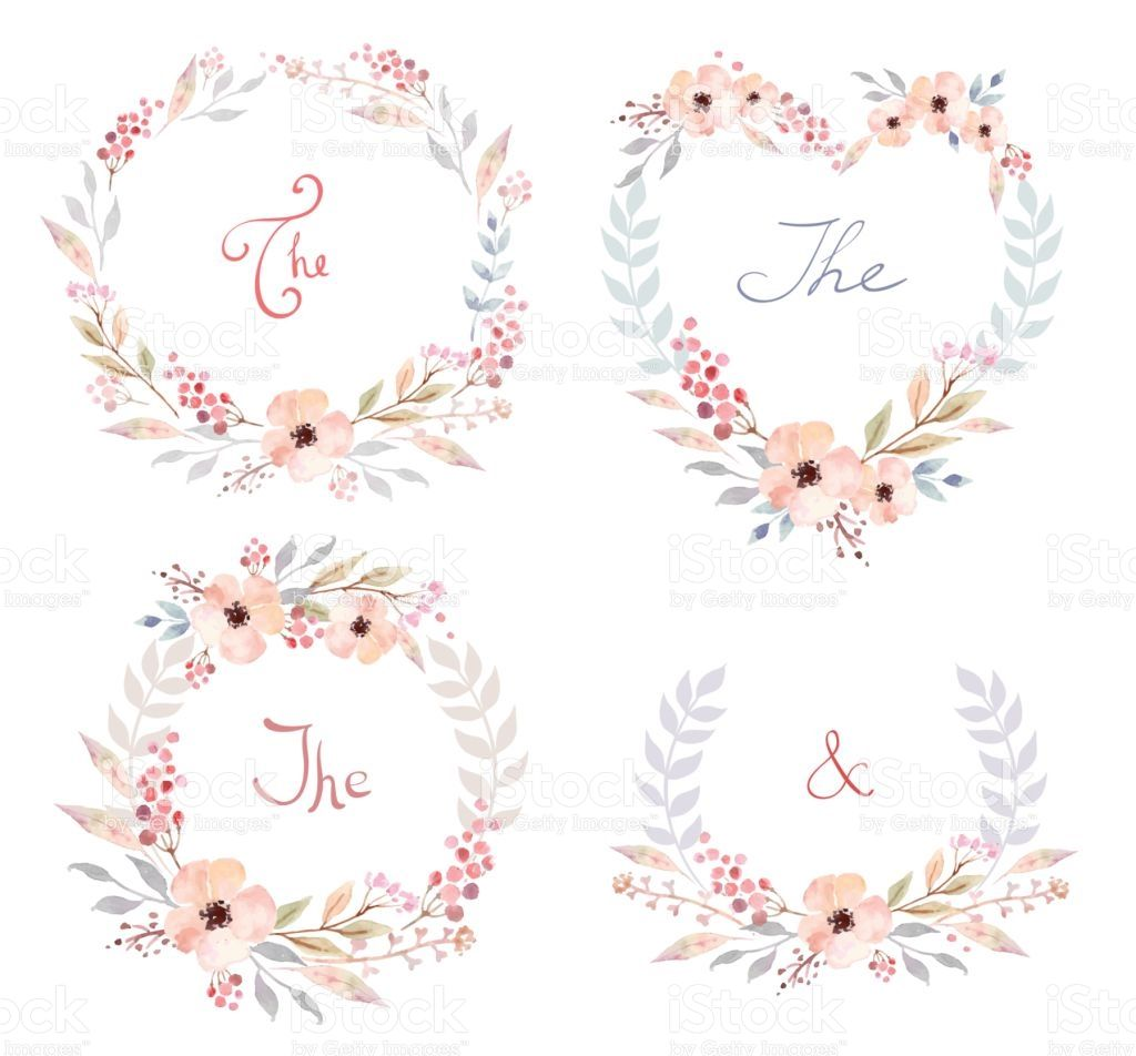 Photo of Floral frame collection. Set of cute retro flowers arranged un a …