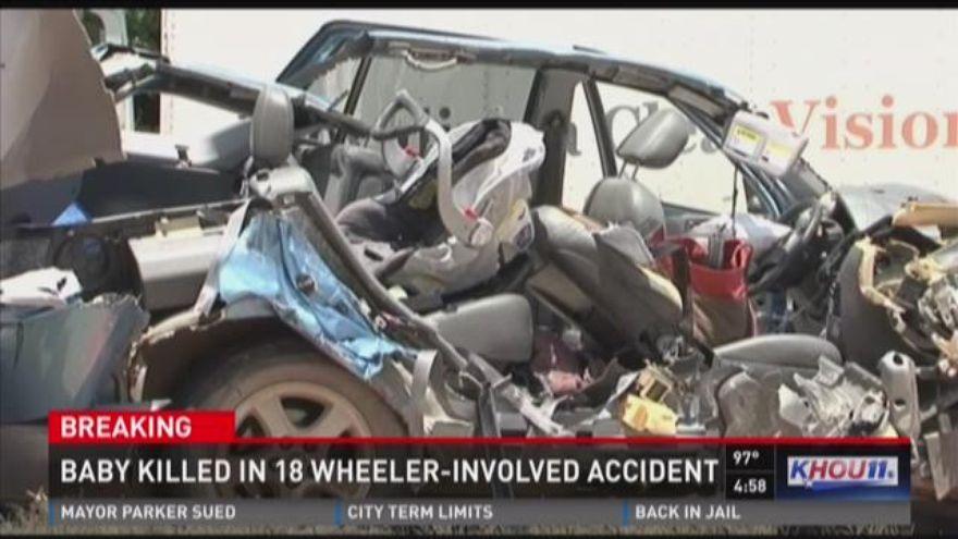 UPDATE Baby killed when car slams into big rig near