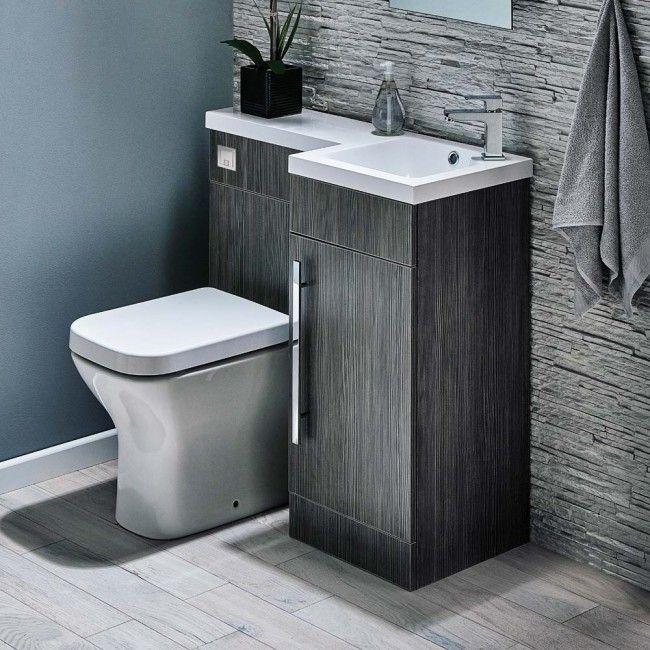 Bathroom Toilet And Sink Unit Gabrielle 900Mm Spacesaving Combination Bathroom Toilet & Sink .