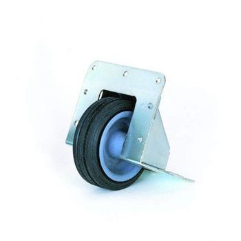 Recessed Castor With 75mm 2 95 Black Wheel W2080
