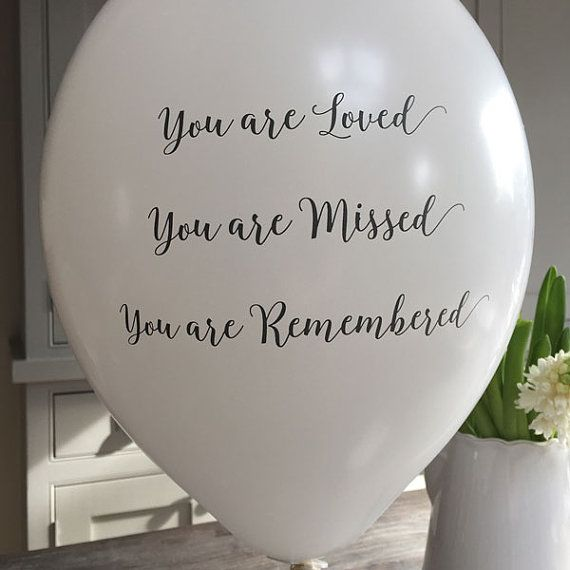 25 White You Are Loved Missed Remembered Funeral Remembrance Balloons 100 Biodegradable Celebration Of Life Memorial Anniversary Biodegradable Products Celebration Of Life Funeral Memorial