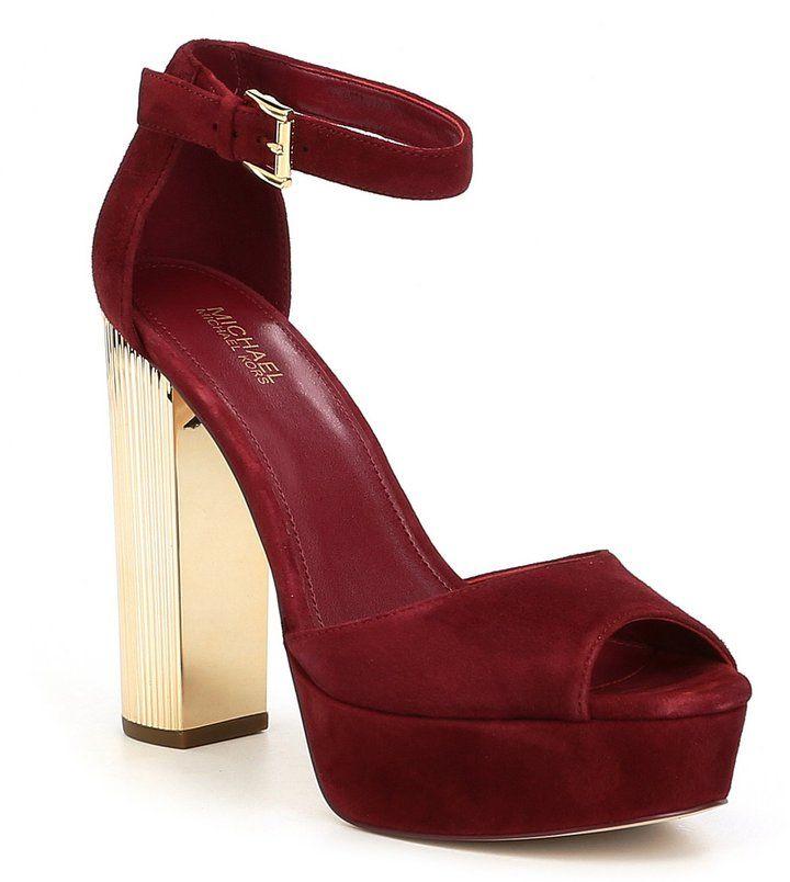 Dress sandals, Platform block heels