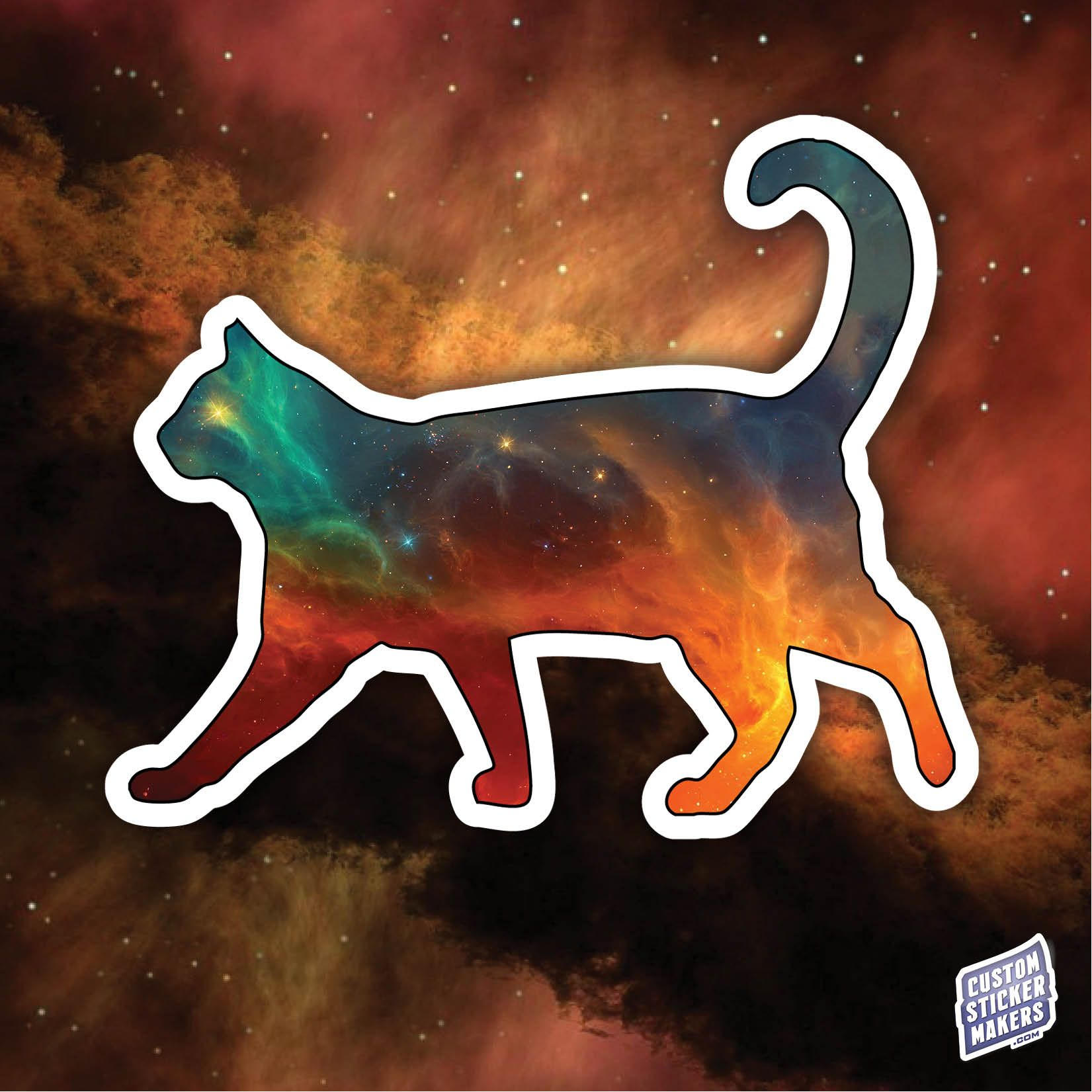 Cat Universe Bumper Sticker Etsy Bumper Stickers Animal Stickers Print Decals