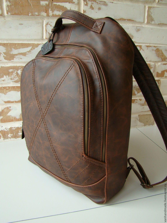 41590c34ecf7 Рюкзаки ручной работы. Ярмарка Мастеров - ручная работа. Купить Стильный  винтажный кожаный рюкзак.