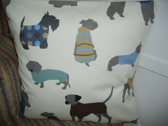 Cushion Cover in a Novelty Quirky Poodle Dalmation by DitzyDotty