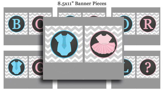 Gender Reveal Boy Or Girl Bunting Banner By Thatpartychick