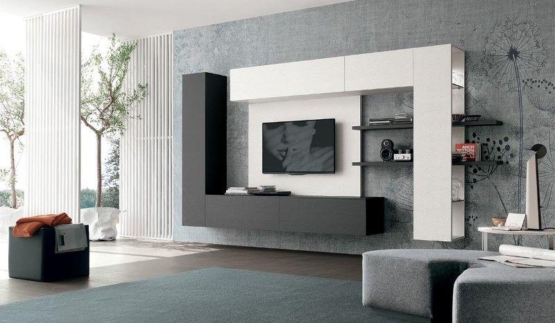 Collection Meuble Tomasella Design Italien Paris Rangement Salon Parement Mural Unite Murale