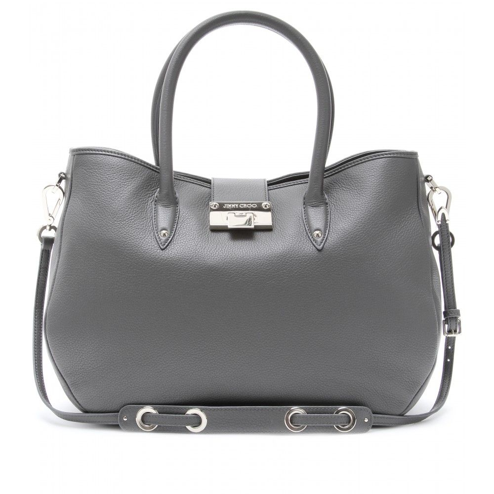 Jimmy Choo - RANIA LEATHER TOTE seen @ www.mytheresa.com