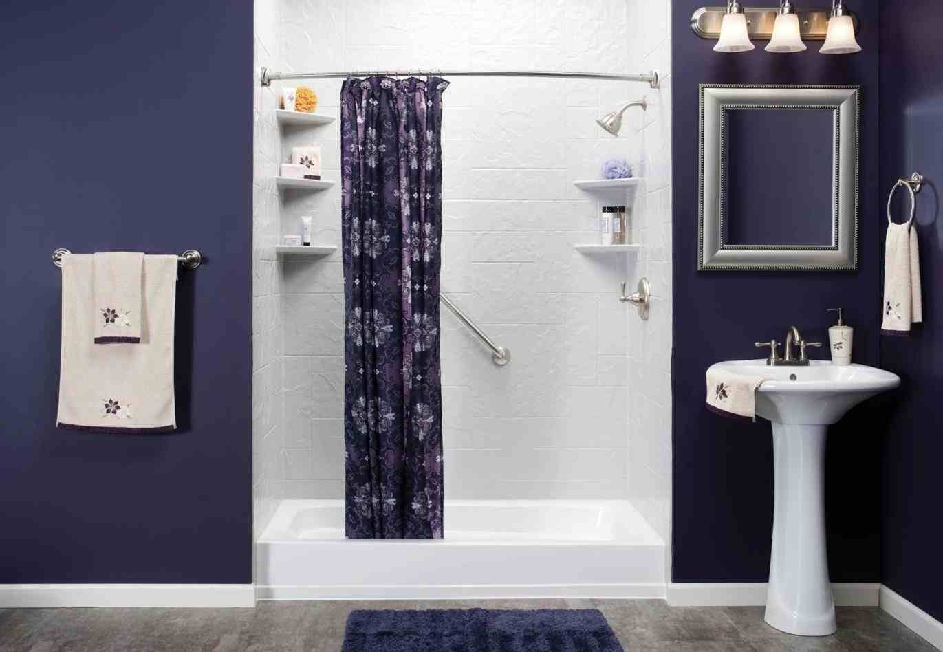 grey and purple bathroom ideas | Home Ideas | Pinterest | Purple ...
