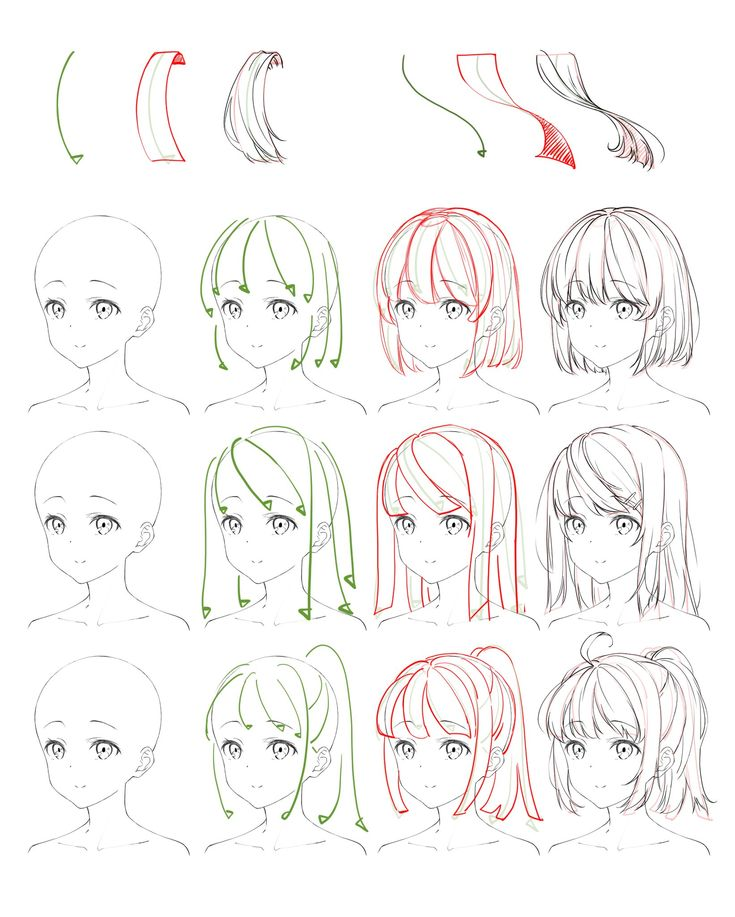 Flowing Anime Hair Reference Edekoralife Site Anime Drawings Tutorials Manga Drawing Tutorials Anime Drawings Sketches