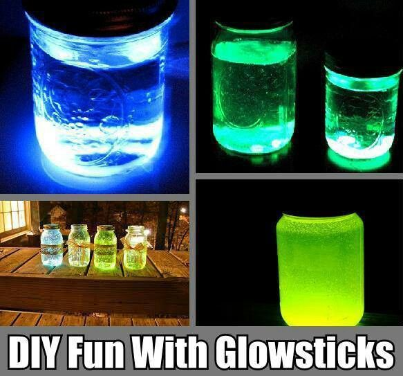 how to make your own glow stick at home