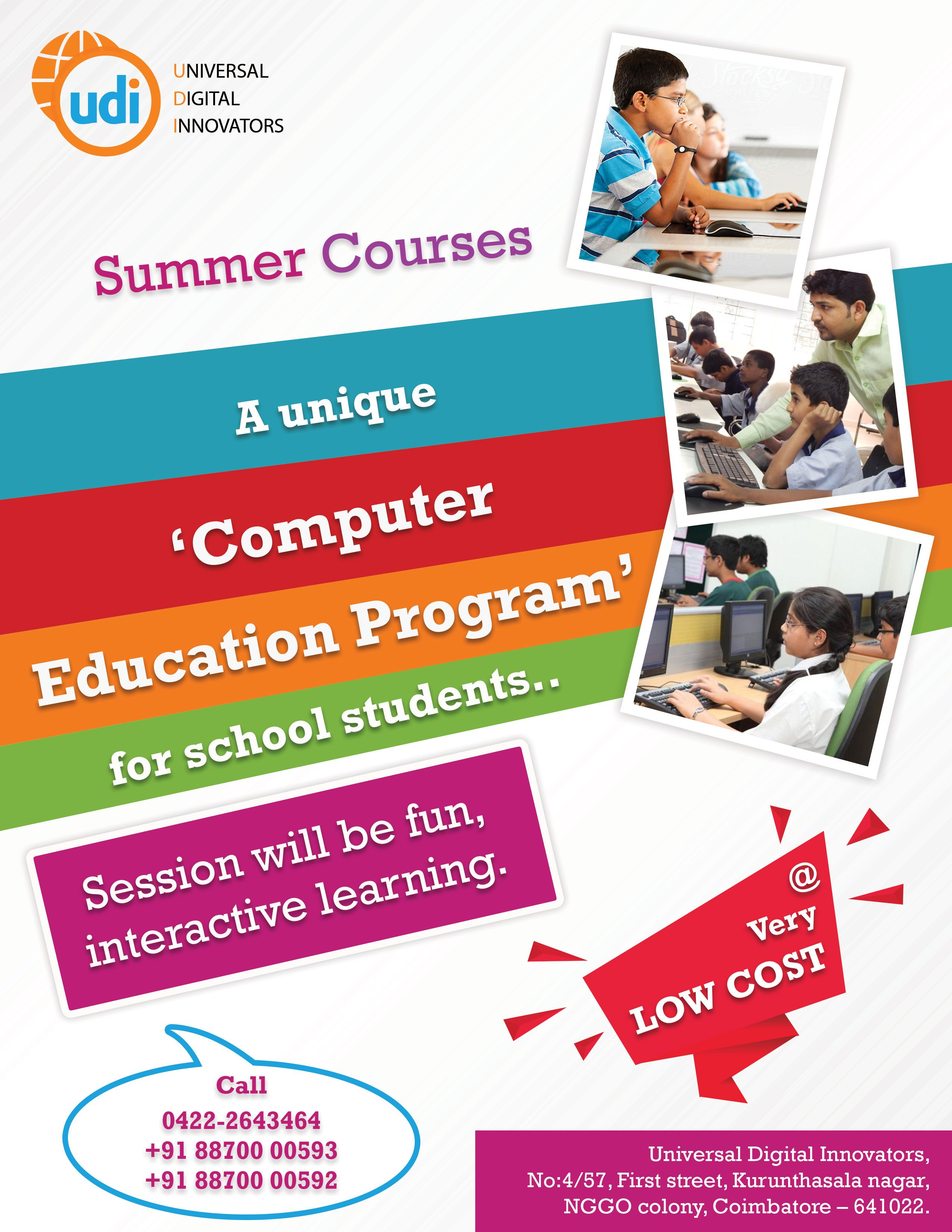 UDI Global - Summer computer education program offered at low cost