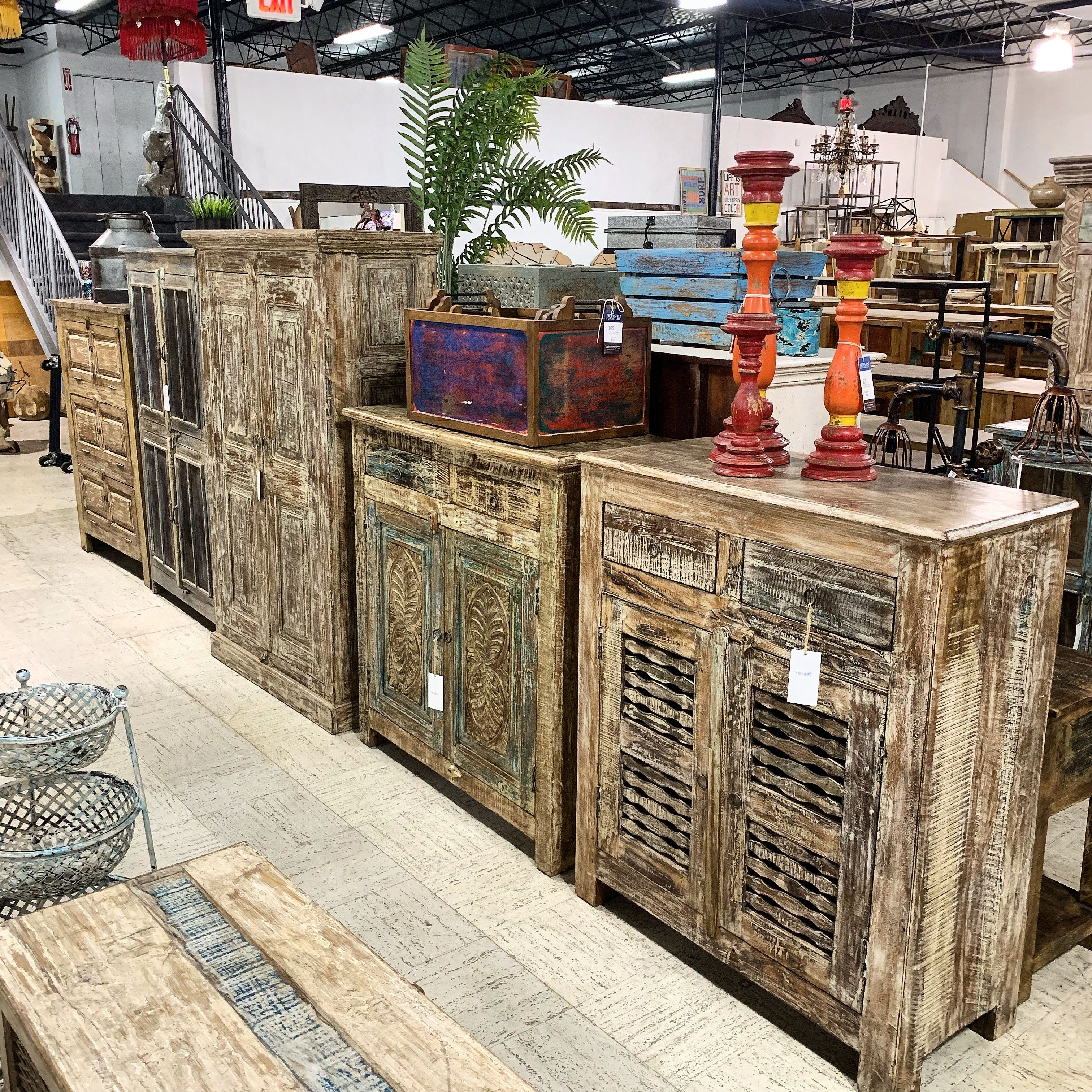 Storage Sideboards and Cabinets We have a nice selection of sideboards, buffets, credenzas, media cabinets, storage armoires, mirrors and much more!