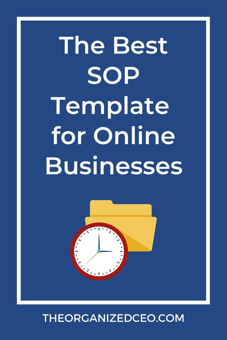 The Best SOP Template for Online Businesses in 2020 (With