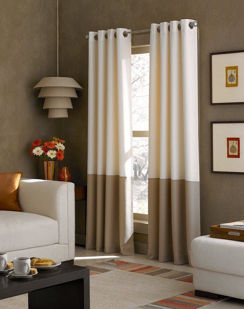 Window dressing ideas for arched windows  details about curtainworks kendall color block grommet curtain panel
