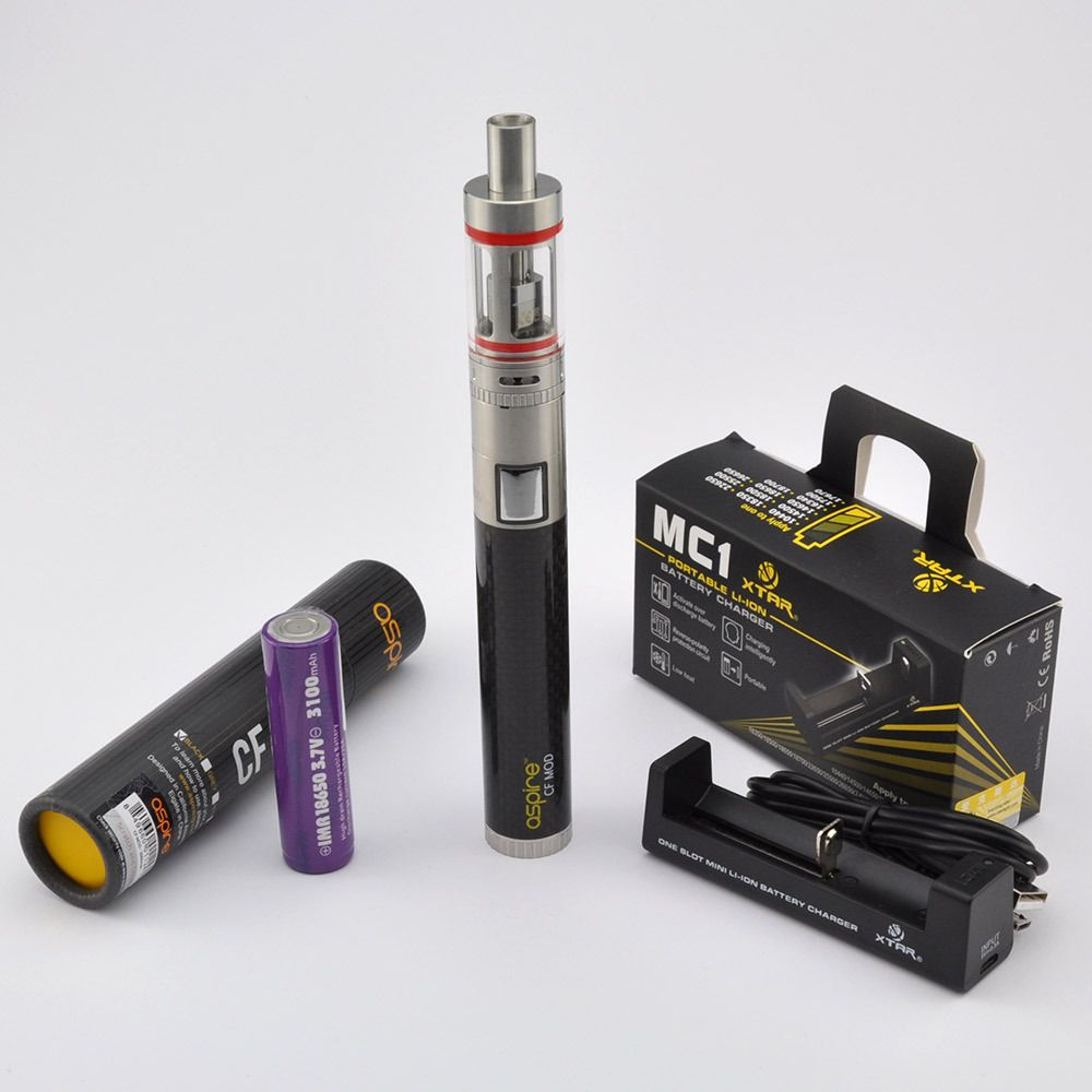 Aspire Carbon Fibre VV 1600 mAh | Combo Kits and Accessories