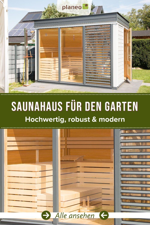 Saunahaus Fur Den Garten Hochwertig Robust Modern Saunahaus Saunahaus Garten Sauna Im Garten