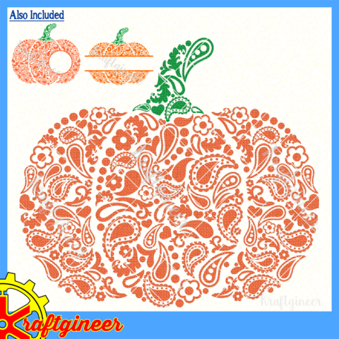 Paisley Pumpkin Pumpkin monogram, Halloween wood signs
