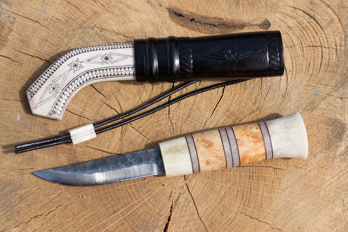 Saami knife by peter pendjurov blade polar mms