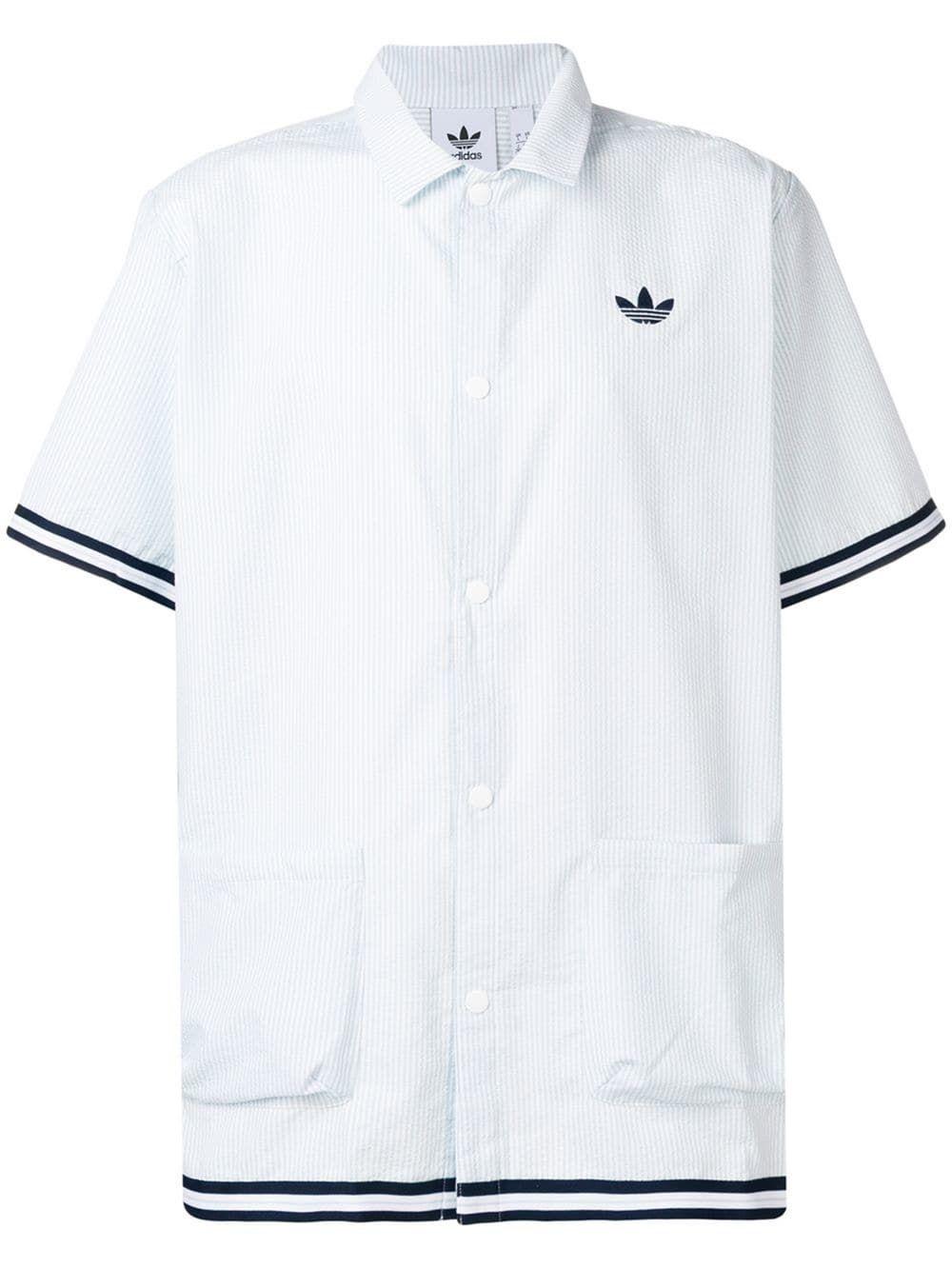 15172c62c2fea ADIDAS ORIGINALS ADIDAS STRIPED SHIRT - BLUE.  adidasoriginals  cloth