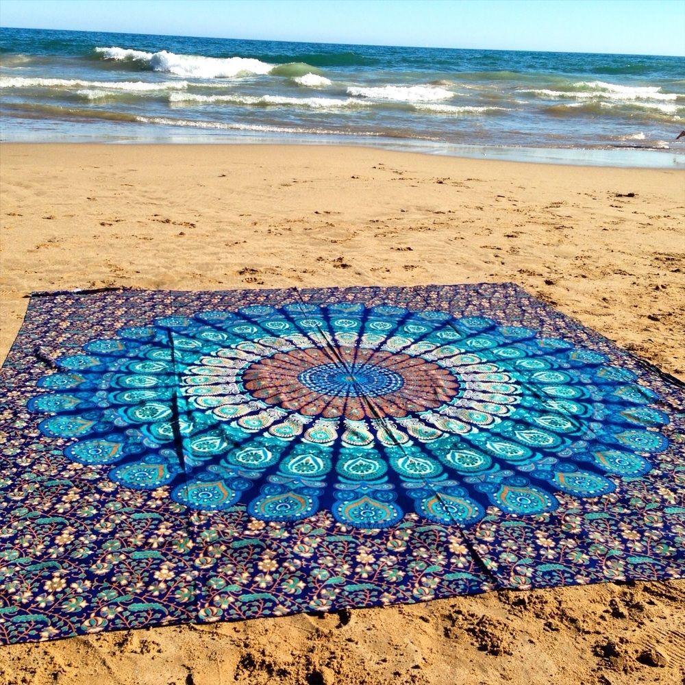 Hermosas toallas de playa rectangulares con un estilo hippie que no te dejar indiferente hecho - Toallas redondas de playa ...