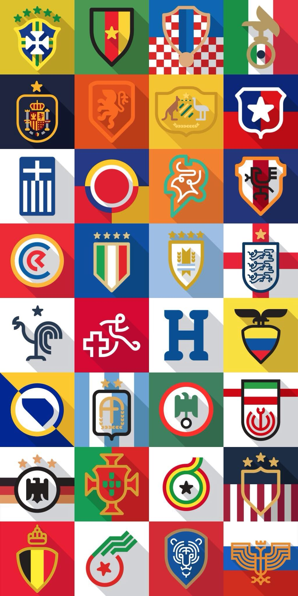 World Cup 2014 Team Crests World Cup Logo World Cup World Cup Teams