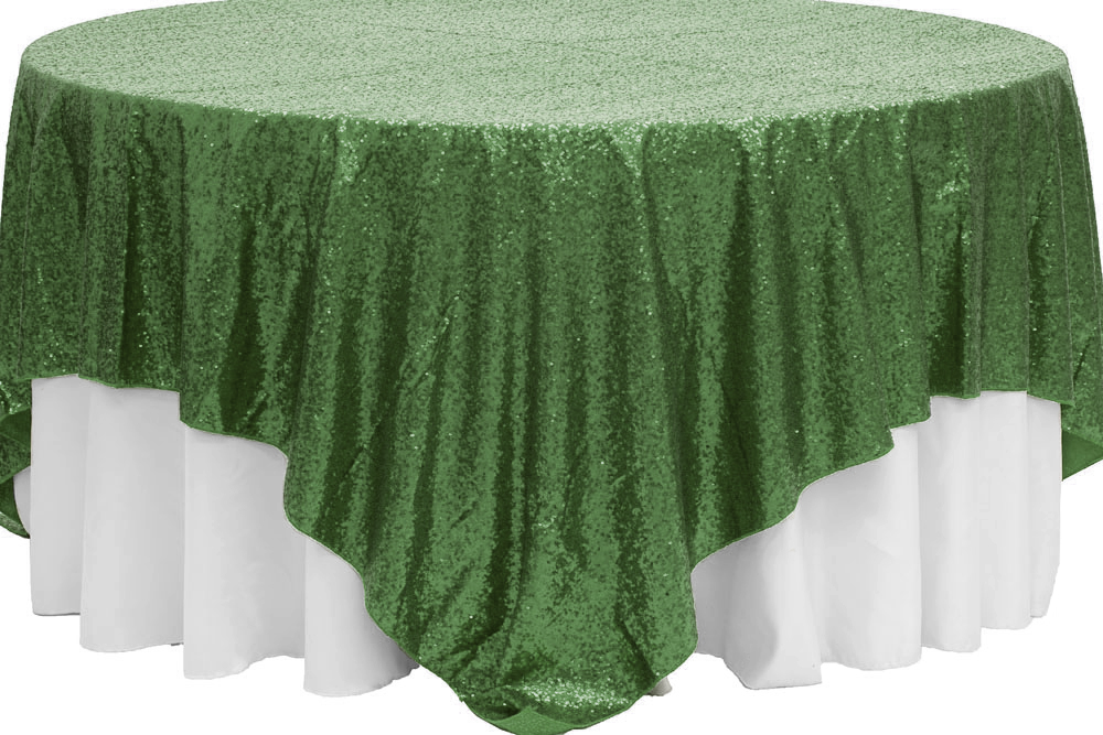 glitz sequin table overlay topper 90 x90 square willow green rh pinterest com
