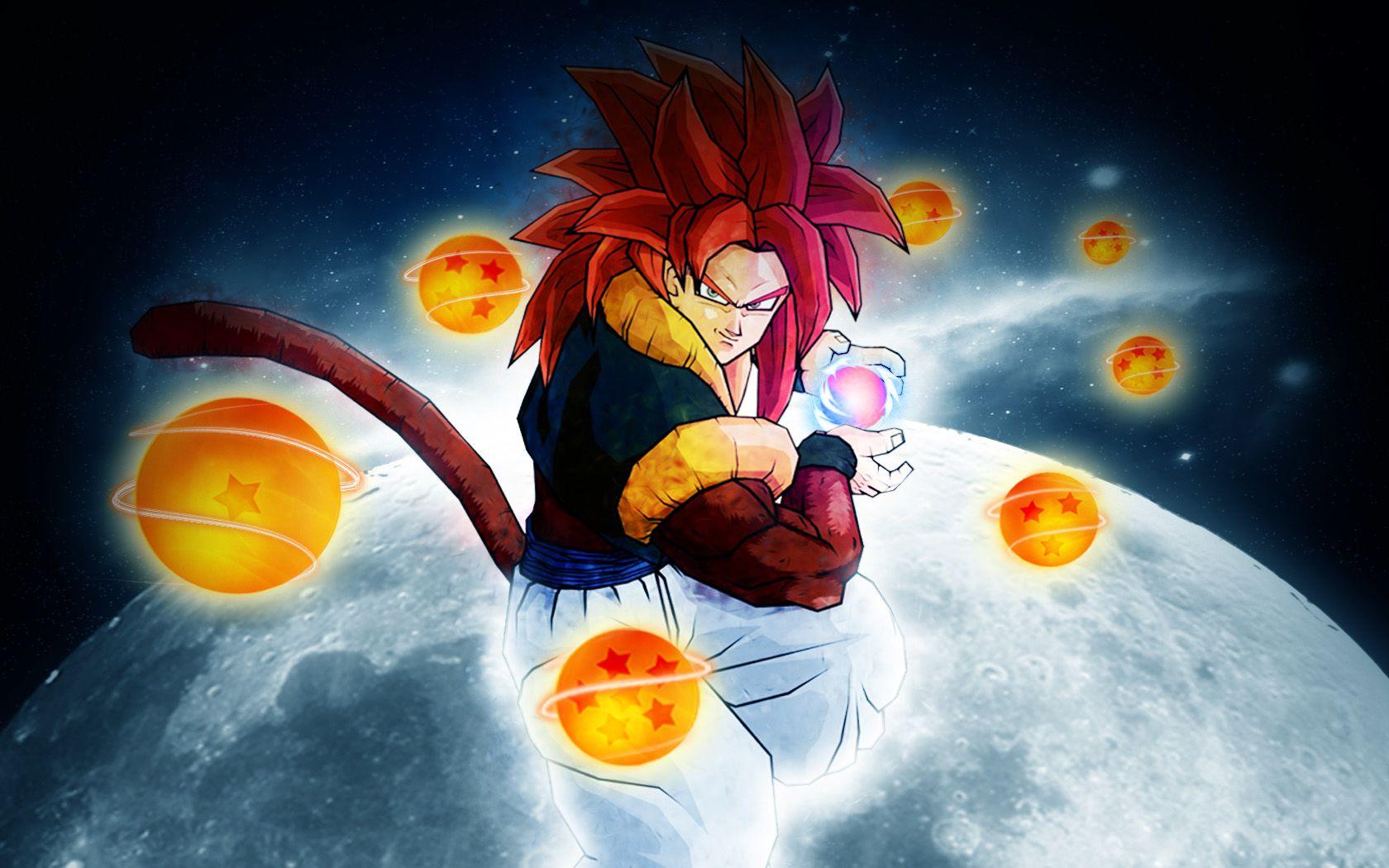 Dragon Ball Z Gogeta Super Saiyan 4 Hd Wallpaper Quizz Manga Balle