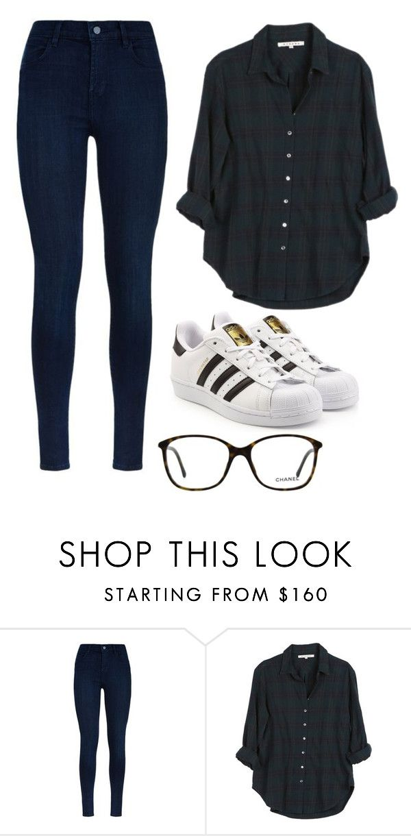 """""""#330"""" by louis18 ❤ liked on Polyvore featuring J Brand, Xirena, adidas Originals and Chanel"""