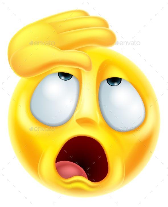 Fainting Melodramatic Emoji Emoticon Emoji Images Emoticon Emoji