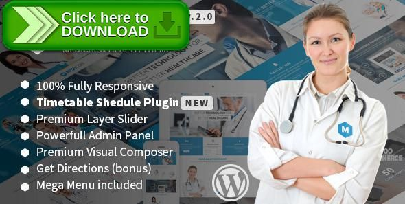 free nulled medicom medical health wordpress theme download