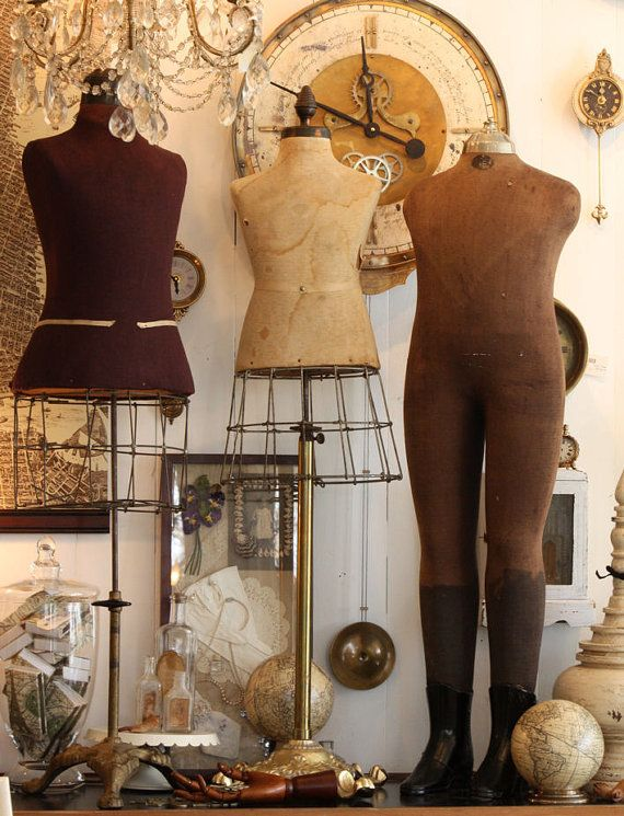 Vintage dress forms are collectors items. Mannequin Madness has new and (sometimes) used dress forms