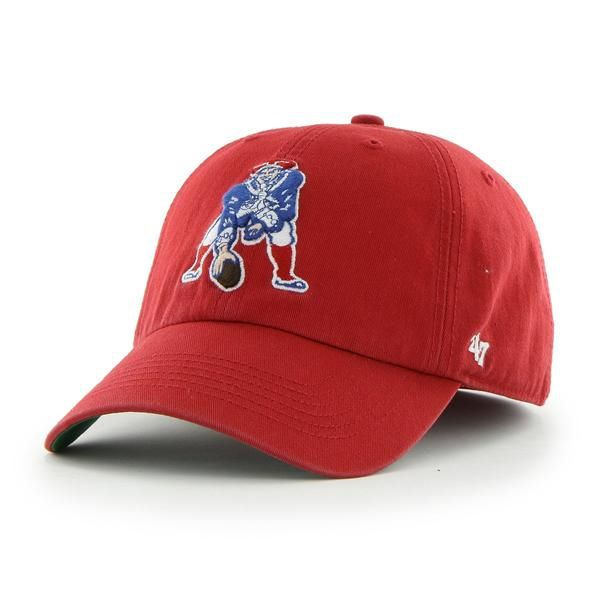 96a87040 New England Patriots Franchise Red 47 Brand Fitted Hat   New England ...