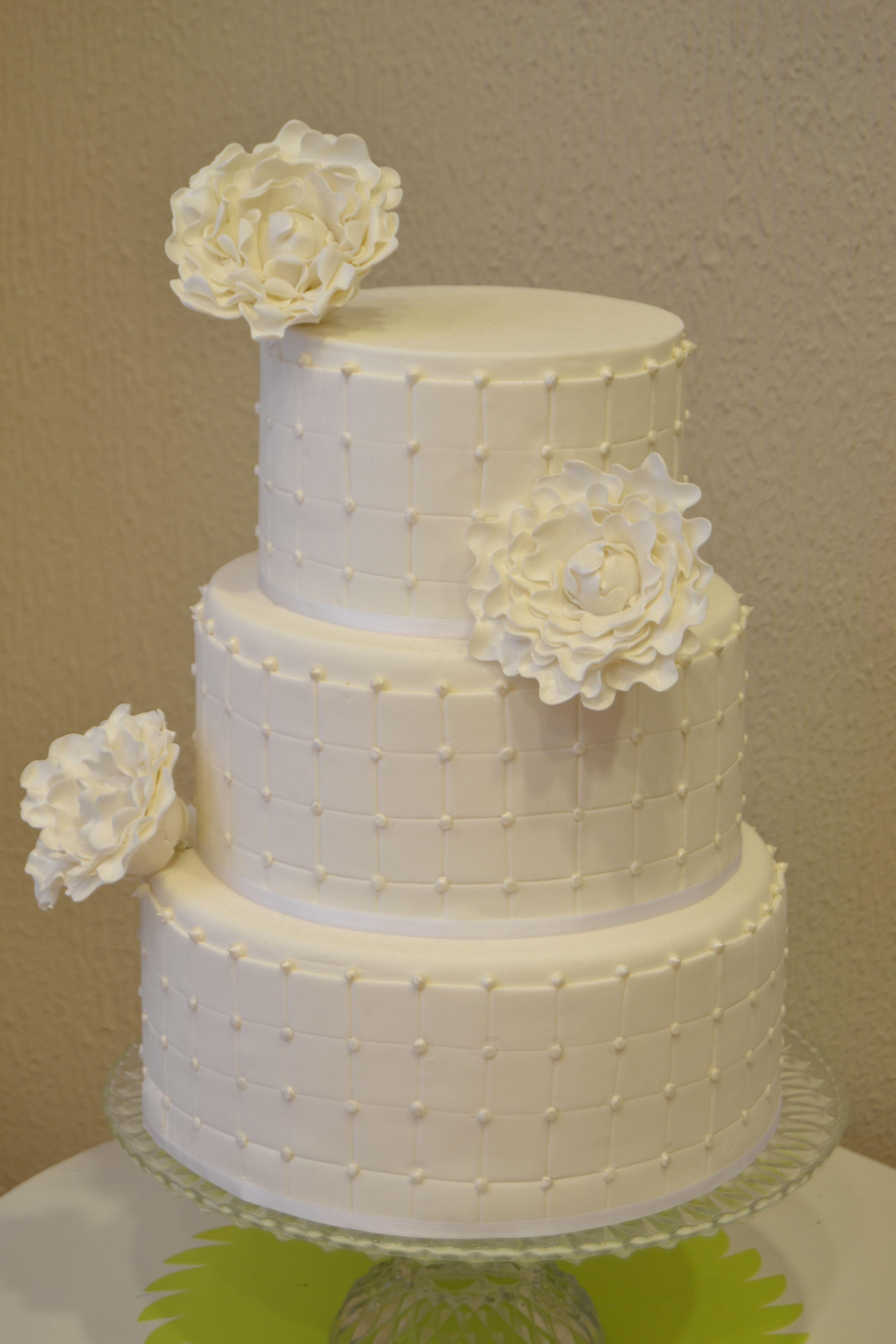 Tarta Fondant Para Boda De Peonias Cake Fondant Wedding Peonia
