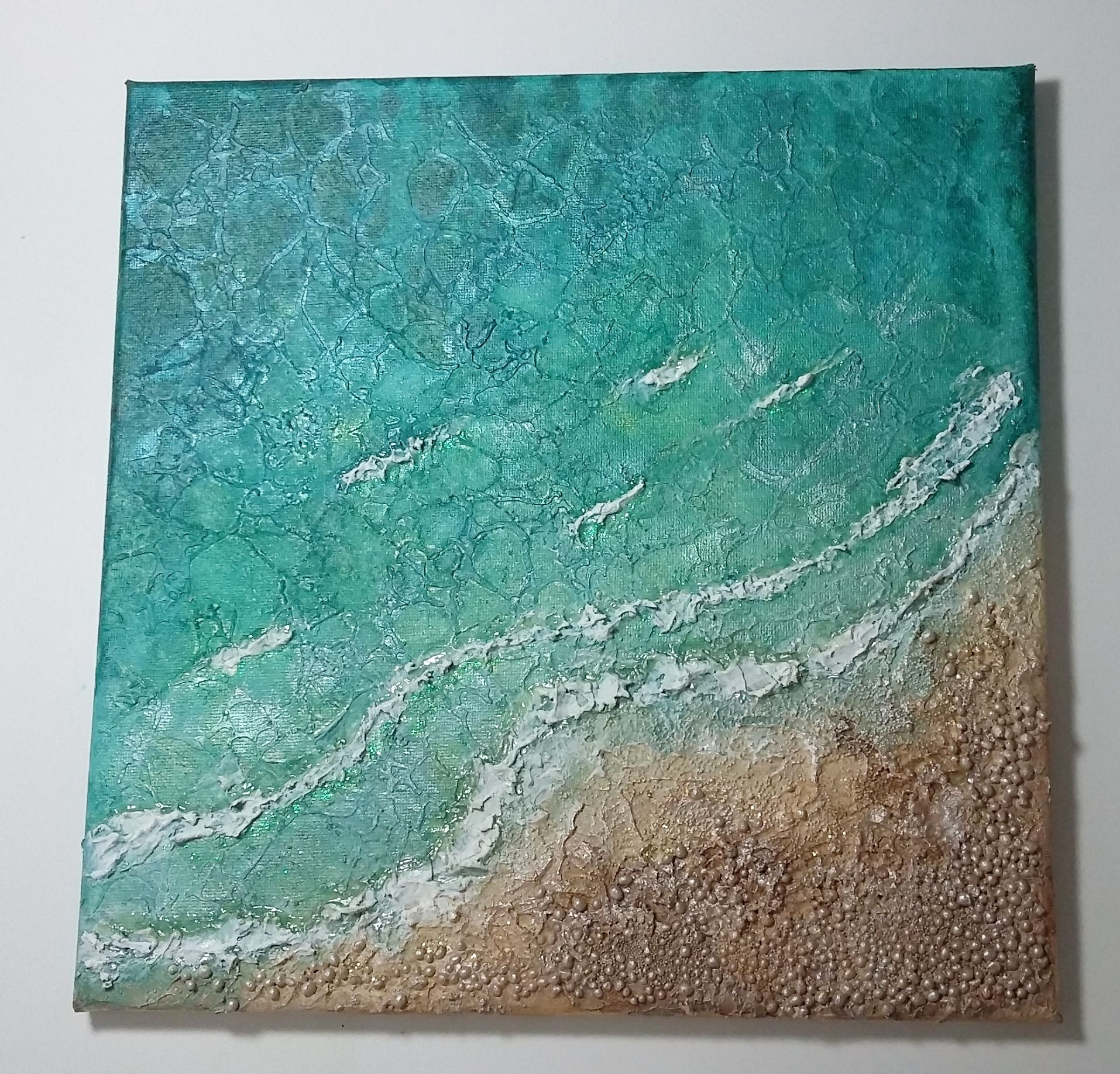 Mixed Media Seascape Canvas Using Texture Paste Finnabair Art Stones And Lindy S Stamp Gang Sprays Finnabair Art Mixed Media Canvas Finnabair Mixed Media