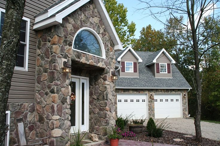Houses with vinyl siding for a unique look to distinguish your home choose stone from heritage for Mid atlantic gutters and exteriors