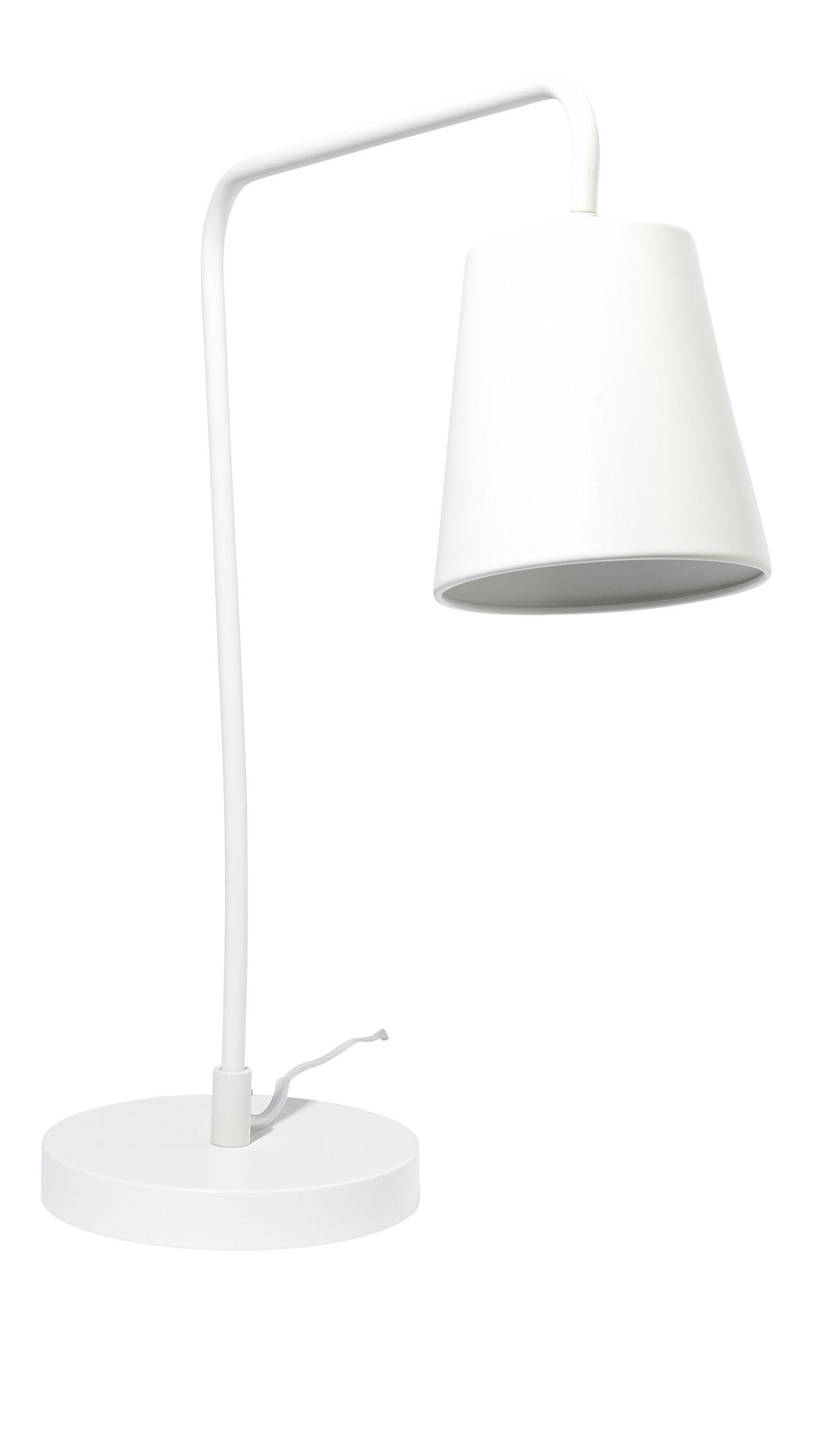 Ascend Bordlampe I Hvitlakkert Stal Kr 500 Inspirasjon Hus