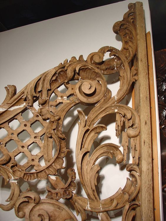 Rare Pair of Carved Antique French Walnut Wood Rococo Gates | From a unique collection of antique and modern doors and gates at https://www.1stdibs.com/furniture/building-garden/doors-gates/