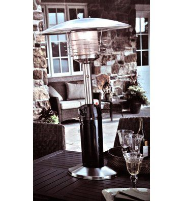 @Home Outdoor Black And Stainless Steel Tabletop Patio Heater By @Home.  $99.95.