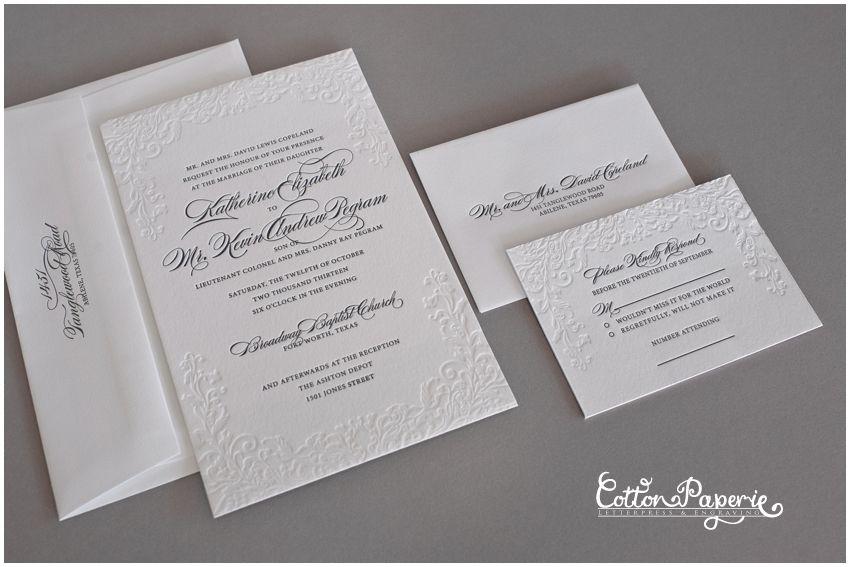 Cotton Paperie   Letterpress wedding invitations, eco-friendly save ...
