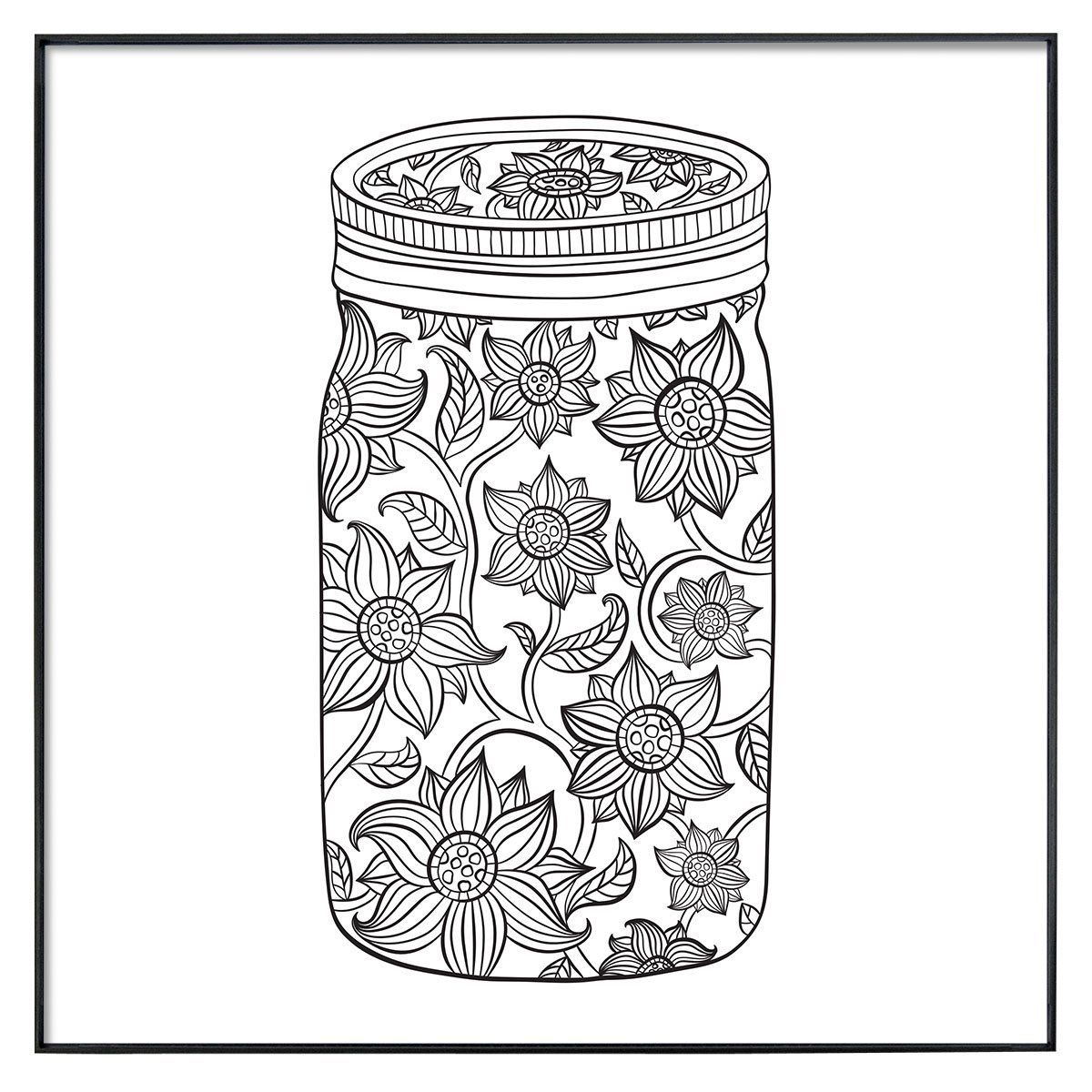 Robot Check Coloring Pages Colored Mason Jars Colored Pens