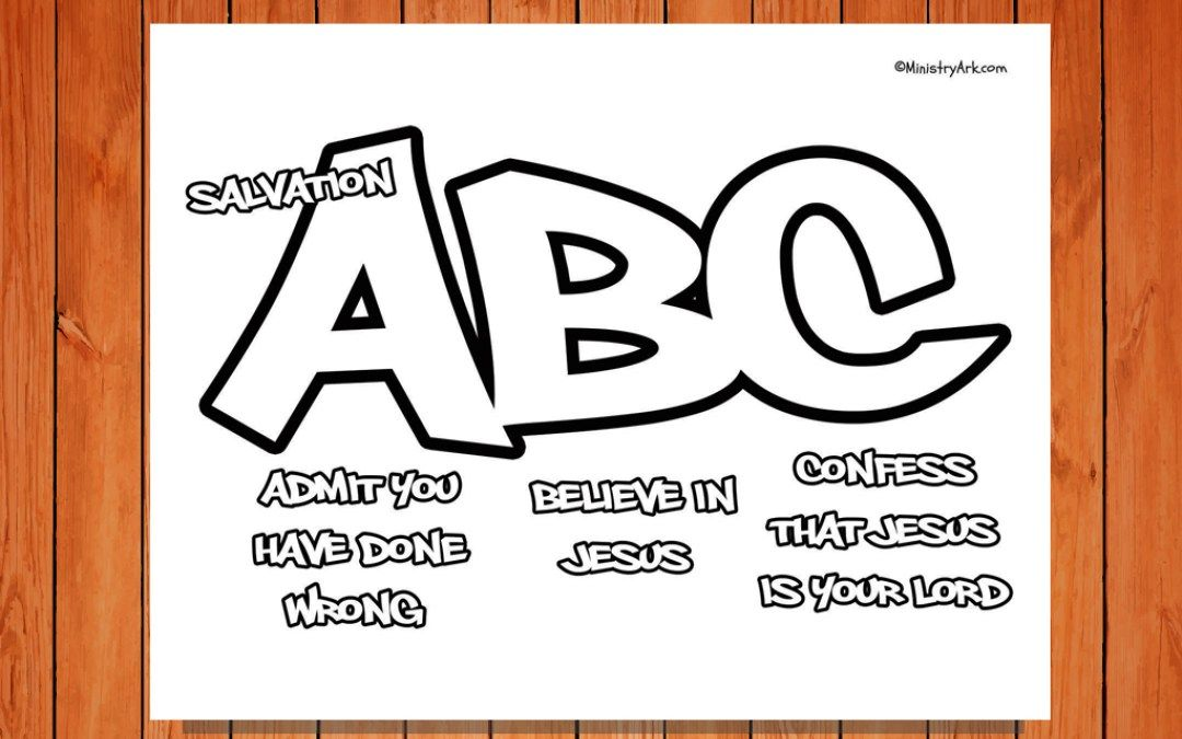 graphic regarding Abc of Salvation Printable named Salvation ABC Printable Coloring Site VBS 2016 Sunday